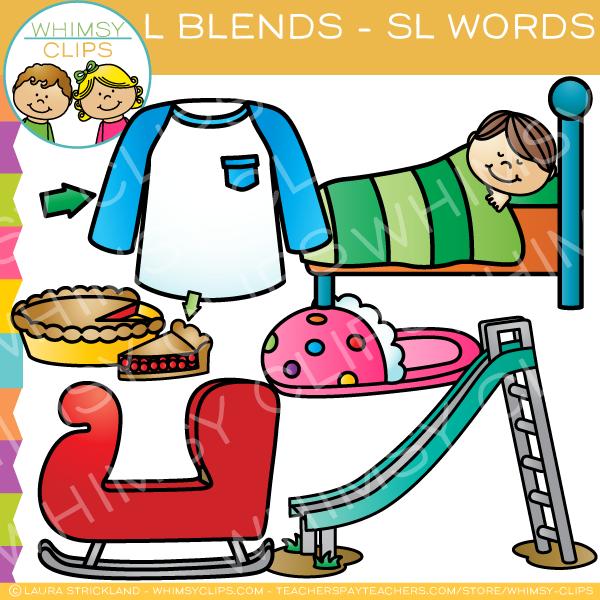 Sl clipart banner transparent stock L Blends Clip Art - SL Words - Volume One banner transparent stock