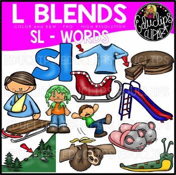 Sl clipart download L Blends SL Words Clip Art Bundle {Educlips Clipart} download