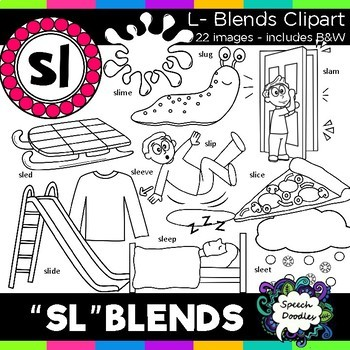 Sl clipart png black and white download S Blends clipart - Sl words - 20 images! Personal and Commercial use png black and white download