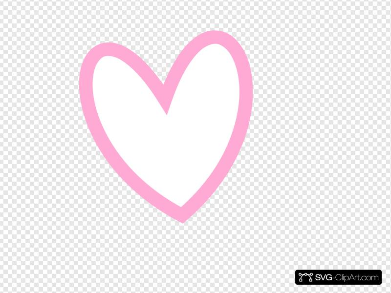 Slanted heart clipart clip art royalty free Slant Pink Heart Outline Clip art, Icon and SVG - SVG Clipart clip art royalty free