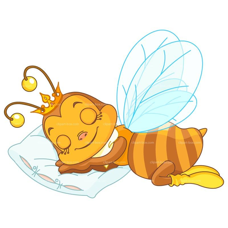 Slapende clipart vector library stock CLIPART SLEEPING BEE | Royalty free vector design ... vector library stock