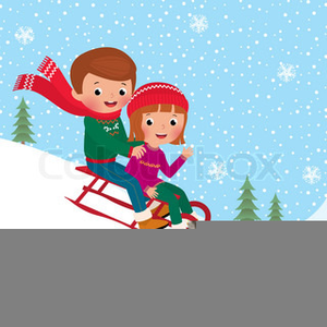 Sled clipart 300x300 picture stock Kids Sledding Clipart | Free Images at Clker.com - vector ... picture stock
