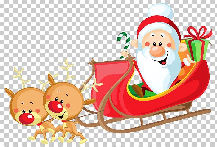 Sled santa clipart svg freeuse stock Santa Claus\'s Reindeer Sled PNG, Clipart, Art, Blog ... svg freeuse stock
