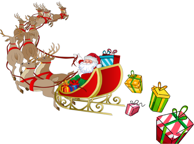 Sled santa clipart clipart transparent stock 47+ Santa Sleigh Clipart | ClipartLook clipart transparent stock