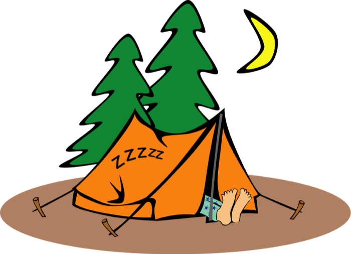 Sleeping at school clipart svg free Sleeping In Tent | Clipart Panda - Free Clipart Images svg free