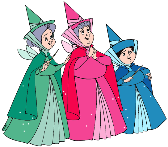 Sleeping beauty fairies clipart jpg black and white download Flora, Fauna and Merryweather Clip Art | Disney Clip Art Galore jpg black and white download