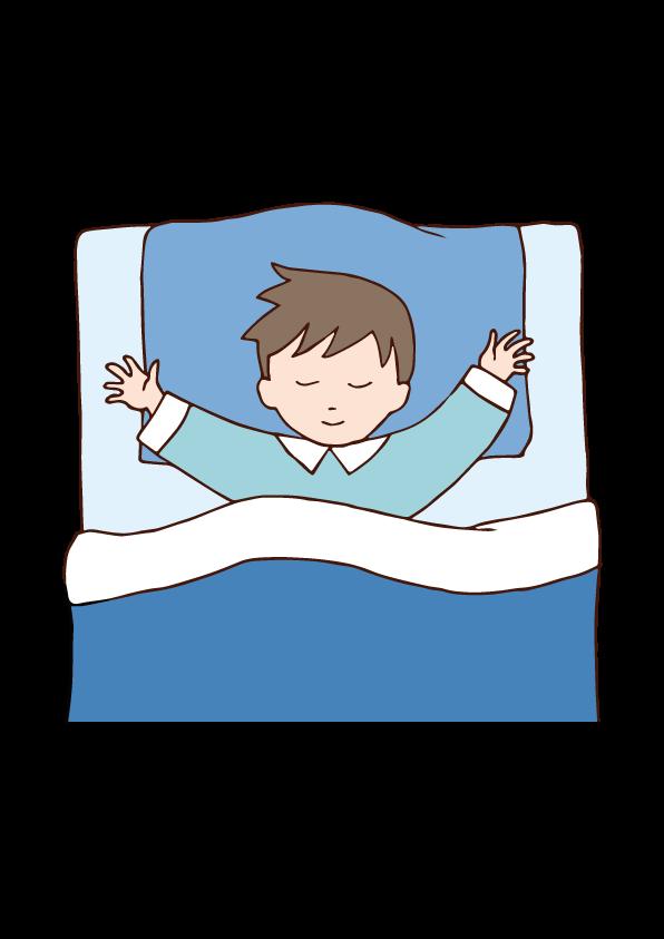 Sleeping boy clipart image free Sleeping boy | Free Illust Net image free