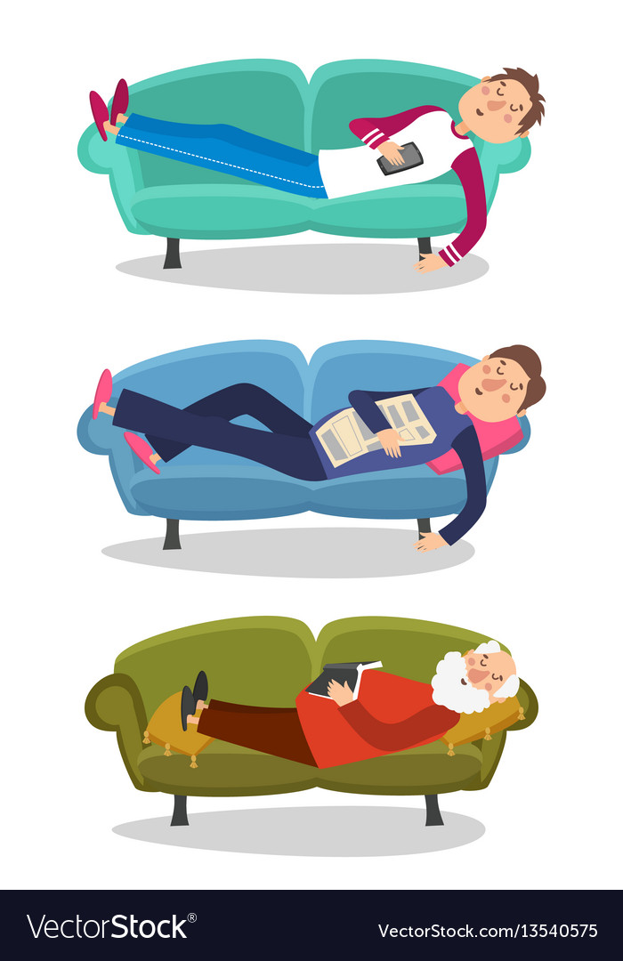 Sleeping children on a couch free clipart image royalty free Man sleep on sofa sleeping image royalty free