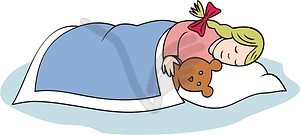 Sleeping girl clipart png royalty free stock Sleeping girl - vector clipart png royalty free stock