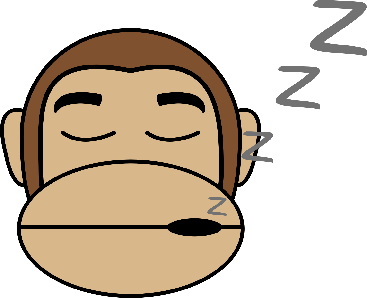 Sleeping in book clipart banner transparent download Clipart - Monkey Emoji - Sleep banner transparent download