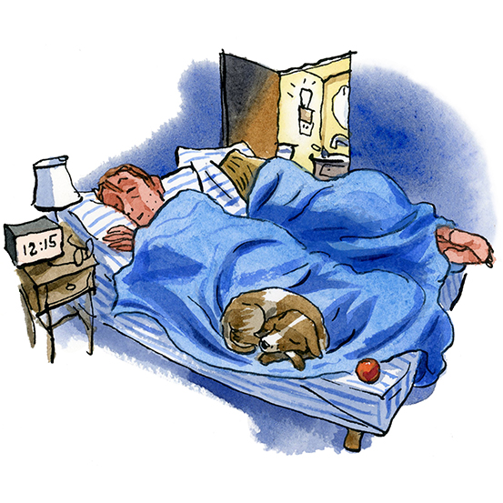 Sleeping in the middle of the night clipart vector free library Help for Middle-of-the Night Insomnia - WSJ vector free library