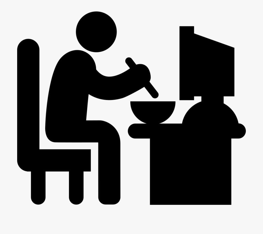 Sleeping man clipart jpg black and white Man Sitting In His Job Desk Eating Lunch Comments - Sleeping ... jpg black and white