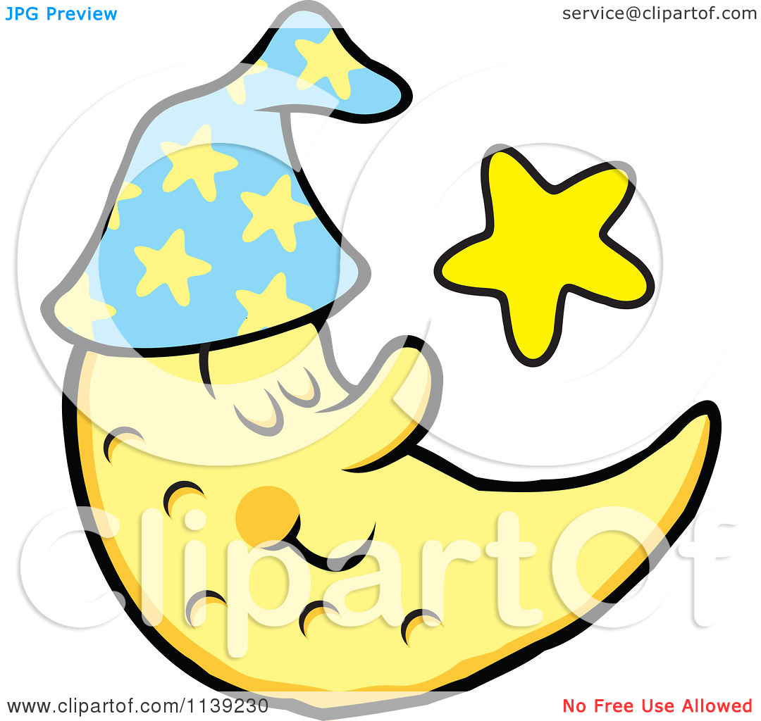 Sleeping moon clipart black and white free image freeuse library Sleeping Moon Clipart Black And White | Clipart Panda - Free ... image freeuse library
