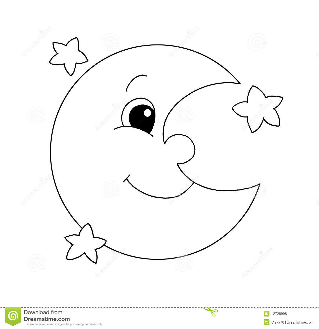 Sleeping moon clipart black and white free graphic freeuse download Free Moon Clipart Black And White, Download Free Clip Art ... graphic freeuse download