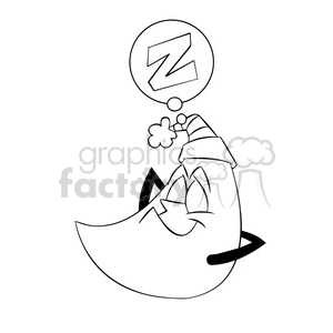 Sleeping moon clipart black and white free picture royalty free moon clipart - Royalty-Free Images | Graphics Factory picture royalty free