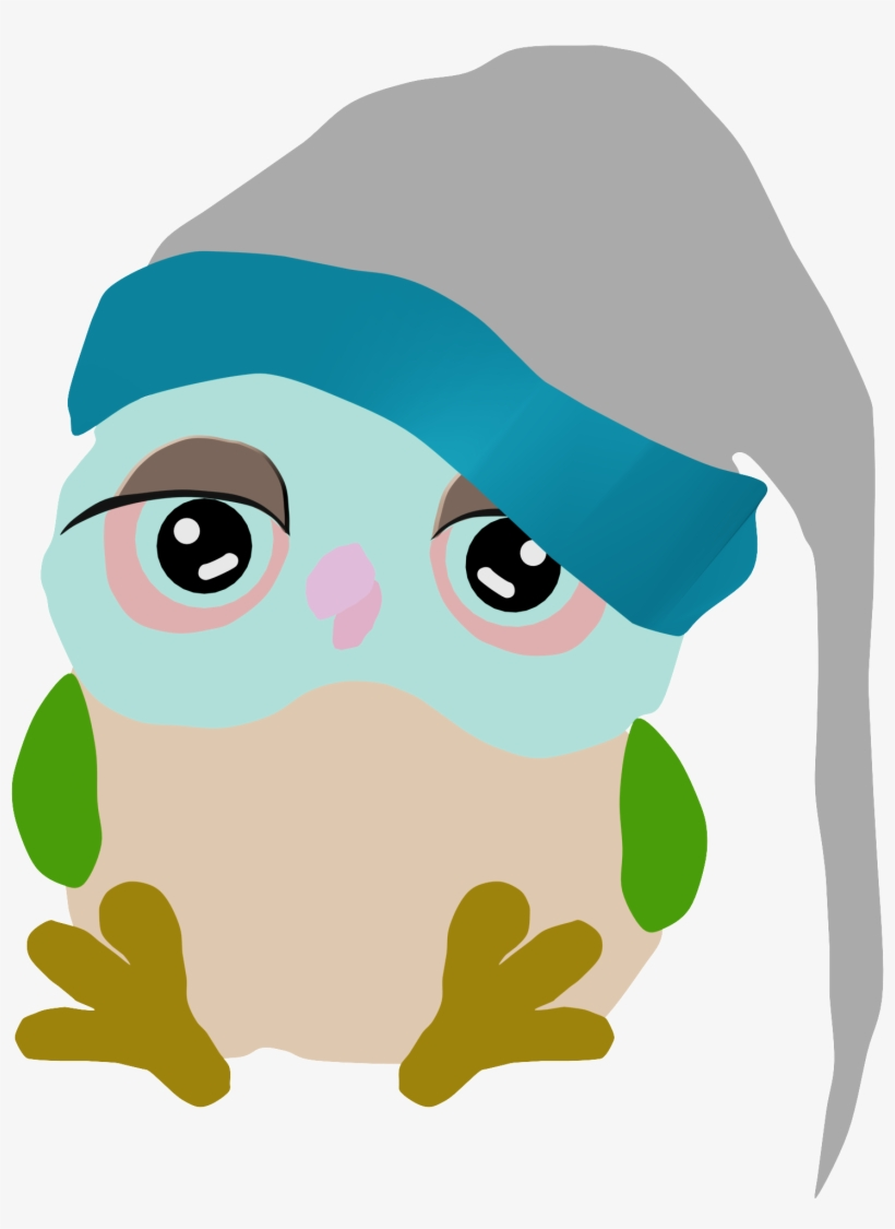 Sleeping owl clipart free banner free library Cartoon Owls Cute Christmas Night Sleep Clipart Png - Owl ... banner free library
