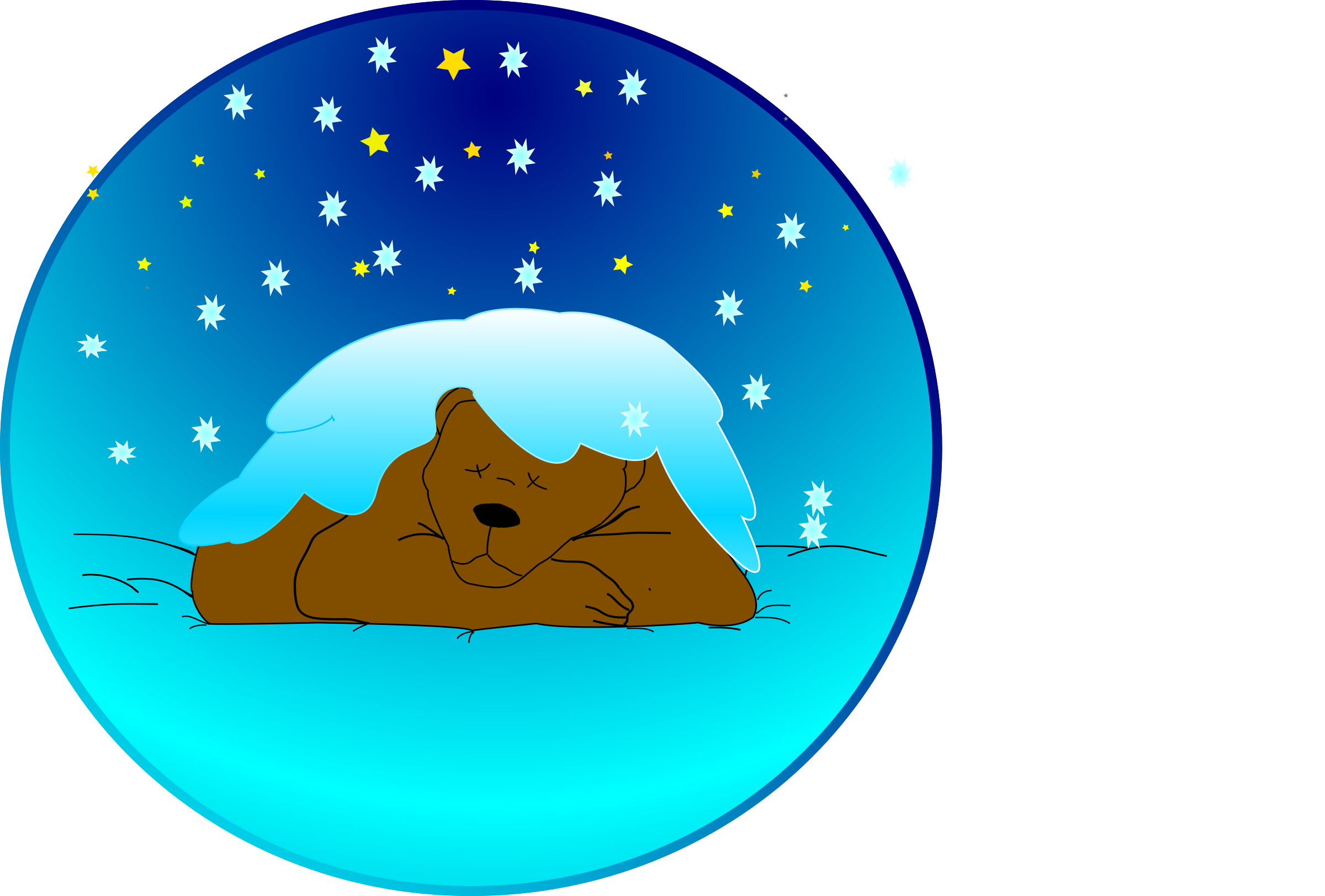 Sleeping sun clipart png transparent download Sleeping bear under the snow Icons PNG - Free PNG and Icons Downloads png transparent download