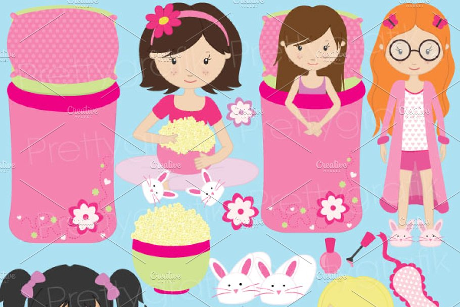 Sleepover clipart image free sleepover clipart for scrapbooking image free