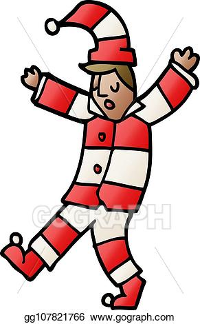 Sleepwalking clipart clipart freeuse download EPS Illustration - Cartoon doodle man sleepwalking. Vector ... clipart freeuse download