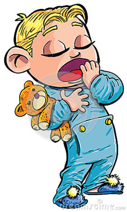 Sleepy boy clipart jpg black and white stock Image - Cartoon-sleepy-little-boy-yawning-24776617.jpg - The ... jpg black and white stock