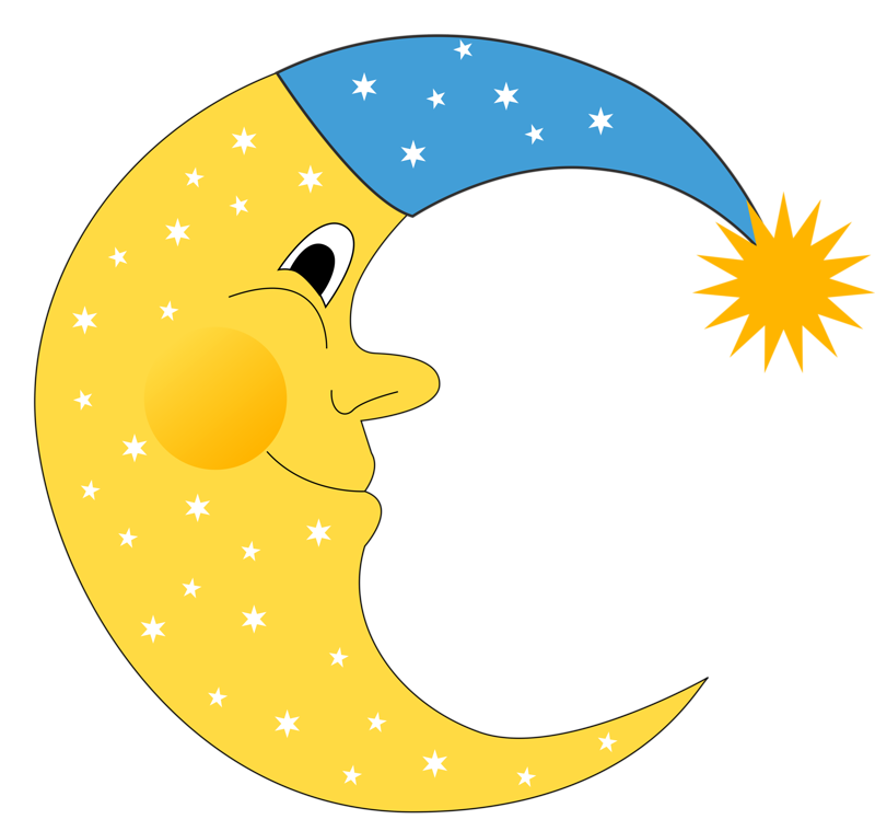 Sleepy sun clipart image black and white stock 1 (2).png | Moon, Baby scrapbook and Clip art image black and white stock