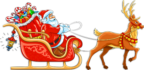 Sleigh santa claus clipart vector free library Transparent Santa with Sleigh and Deer Clipart | Ashley\'s ... vector free library