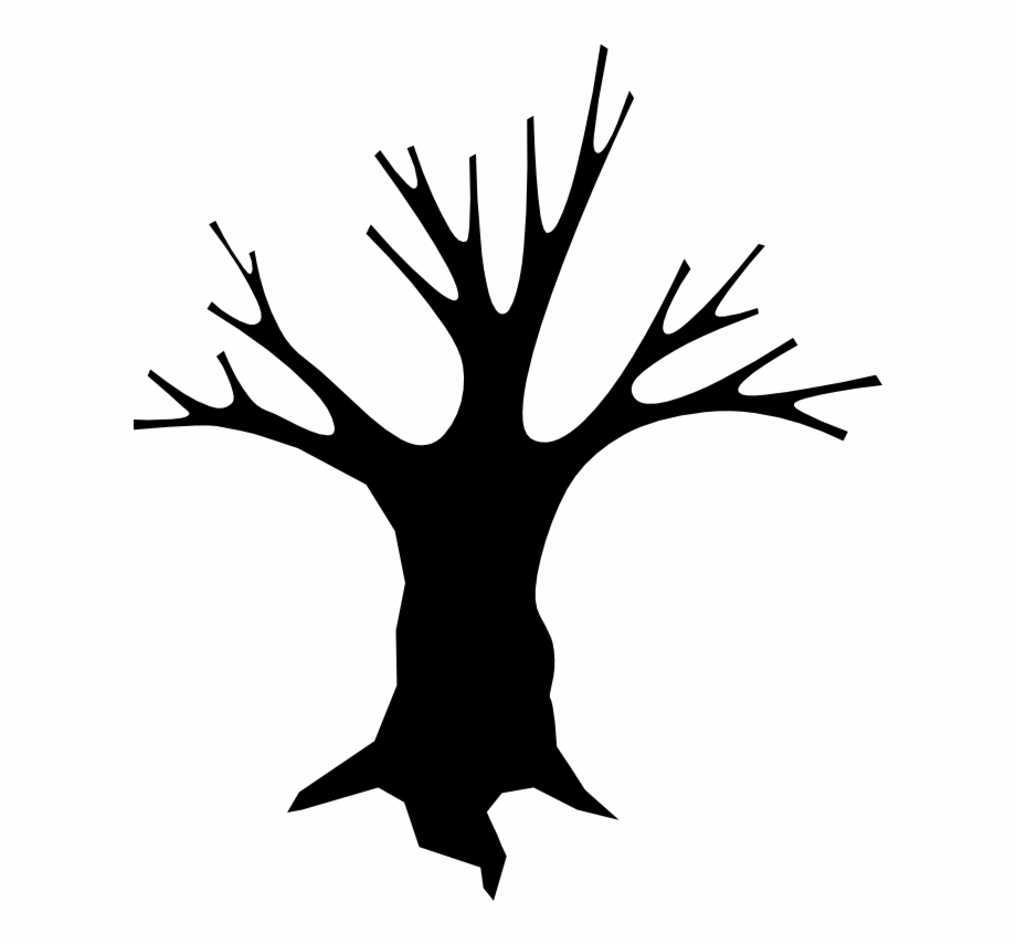 Slender tree clipart picture black and white download Slender Man Clipart Scares - Dead Tree Cartoon, Transparent ... picture black and white download