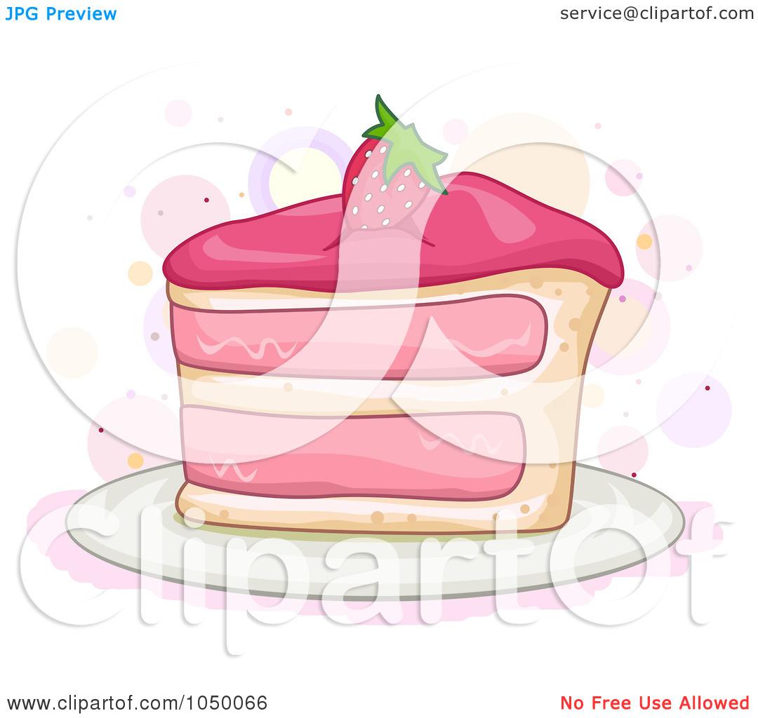 Slice cake art clipart clip art black and white stock Royalty-Free (RF) Clip Art Illustration of a Slice Of Strawberry ... clip art black and white stock