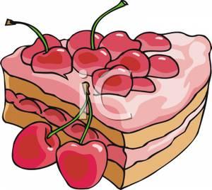 Slice cake art clipart clip art free library Slice of Cherry Cake Clip Art Image clip art free library