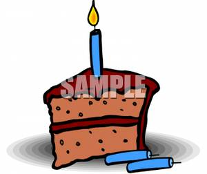 Slice of birthday cake clipart graphic free Slice Of Chocolate Birthday Cake - Royalty Free Clipart Picture graphic free