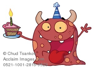 Slice of birthday cake clipart clip art royalty free stock A Happy Red Monster With a Slice of Birthday Cake Clipart ... clip art royalty free stock
