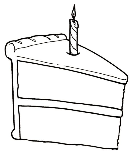 Slice of cake black and white clipart clip freeuse Slice of cake clipart black and white 1 » Clipart Portal clip freeuse
