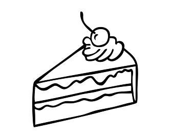 Slice of cake black and white clipart image freeuse Cake Slice Clipart Black And White (88+ images in Collection ... image freeuse