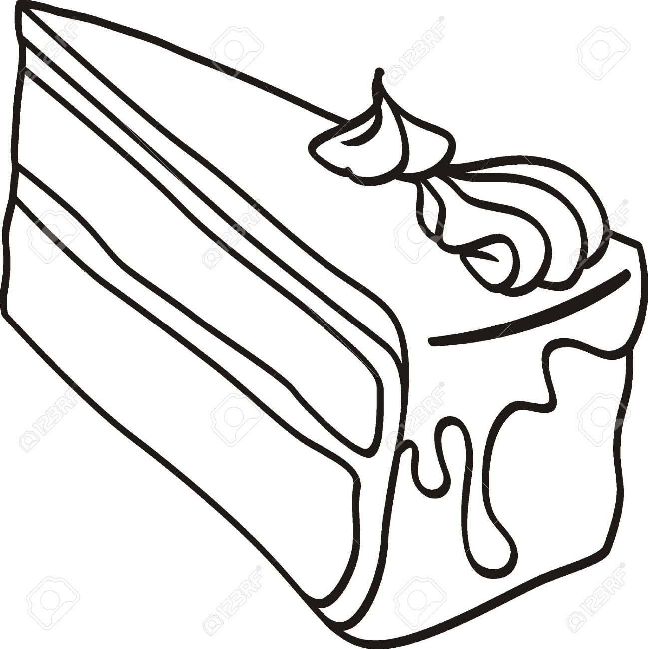Slice of cake black and white clipart picture black and white library Slice of cake clipart black and white 5 » Clipart Station picture black and white library