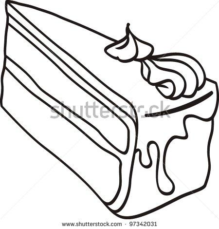 Slice of cake clip art vector stock Slice Of Cake Clipart Black And White   Clipart Panda - Free ... vector stock