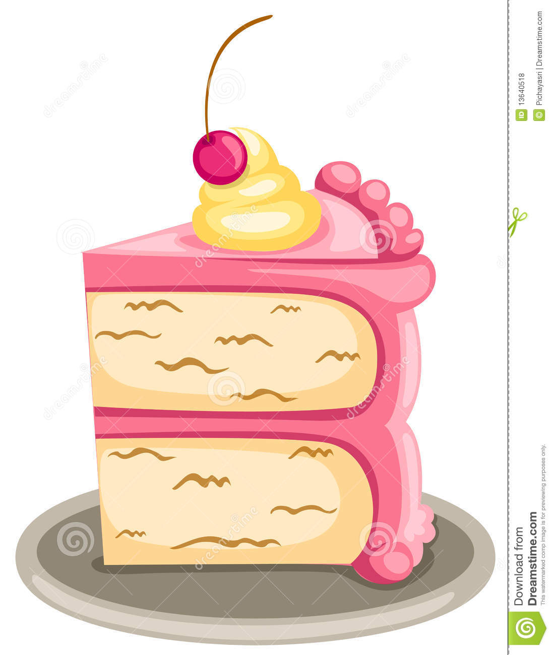 Slice of cake clip art vector Piece Of Cake Clipart - Clipart Kid vector
