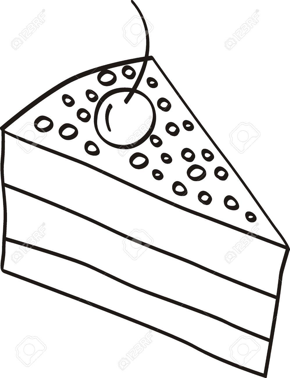 Slice of cake clip art clipart black and white Cake slice clipart black and white - ClipartFest clipart black and white