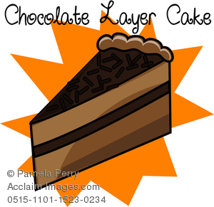 Slice of chocolate cake clipart svg black and white Clip Art Illustration of a Piece of Chocolate Layer Cake Icon ... svg black and white