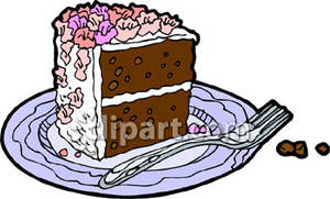 Slice of chocolate cake clipart clipart library download Piece of Chocolate Cake Royalty Free Clipart Picture clipart library download