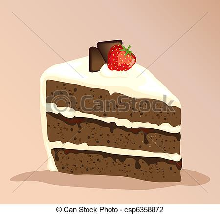 Slice of chocolate cake clipart picture transparent stock Chocolate cake Clipart and Stock Illustrations. 24,387 Chocolate ... picture transparent stock