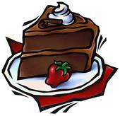 Slice of chocolate cake clipart jpg freeuse download Chocolate cake slice clipart - ClipartFest jpg freeuse download