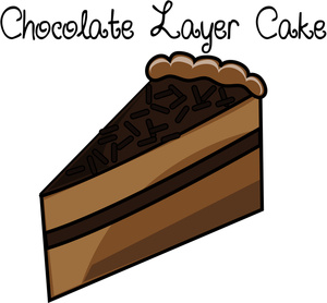 Slice of chocolate cake clipart picture freeuse Chocolate Cake Clipart - Clipart Kid picture freeuse