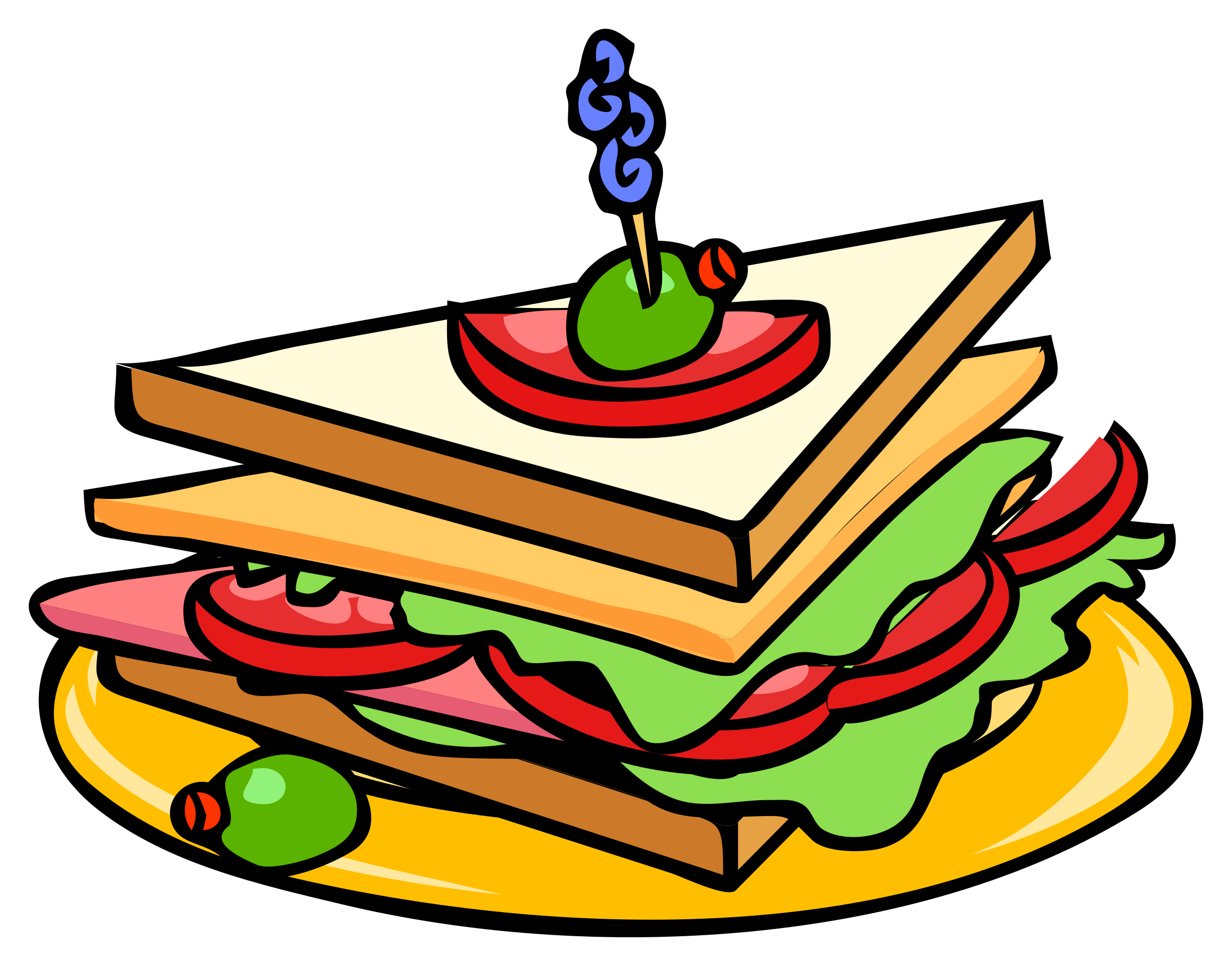 Sliced turkey sandwich clipart jpg library stock Sandwich Clip Art Free | Clipart Panda - Free Clipart Images jpg library stock