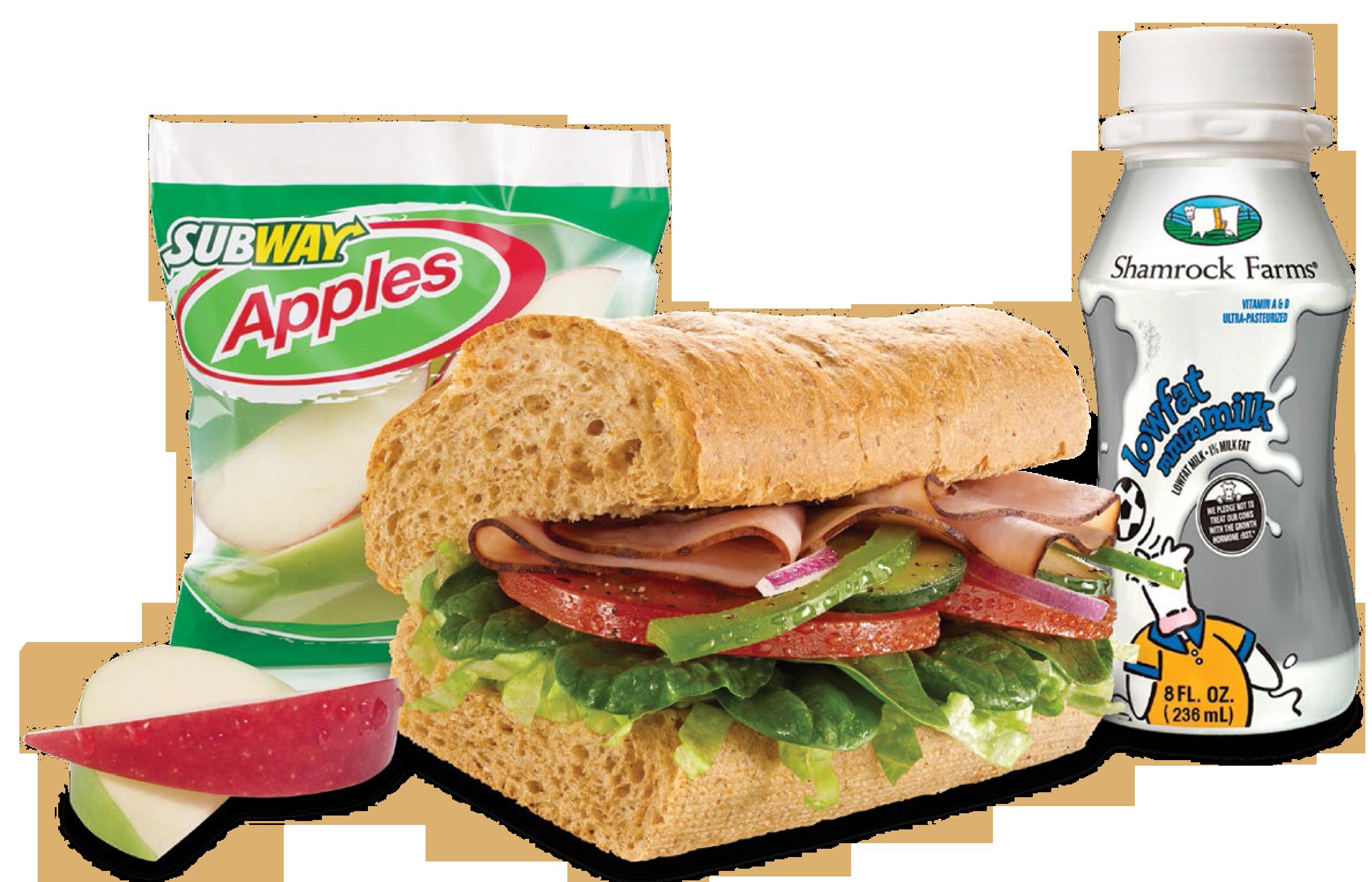 Turkey and ham sandwich clipart picture transparent Langhoff Family Subway Franchises | Menu picture transparent