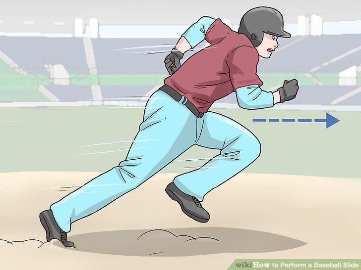 Sliding into home plate head first clipart banner black and white How to Perform a Baseball Slide (with Pictures) - wikiHow banner black and white