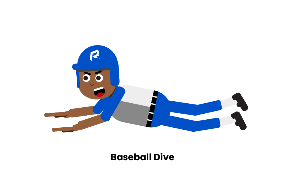 Sliding into home plate head first clipart banner library stock Baseball Sliding And Diving Rules banner library stock