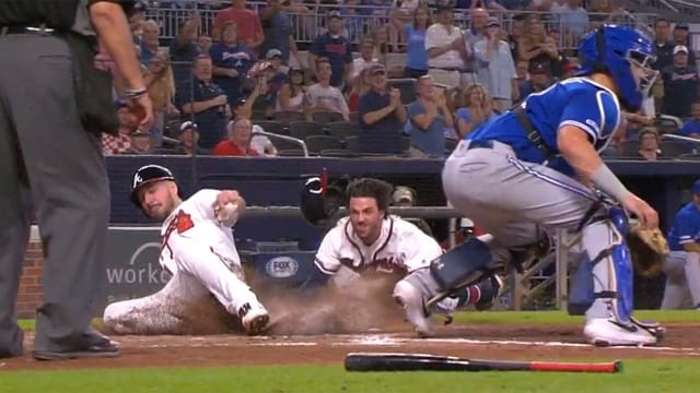 Sliding into home plate head first clipart clipart free Braves double slide Matt Joyce Dansby Swanson | MLB.com clipart free