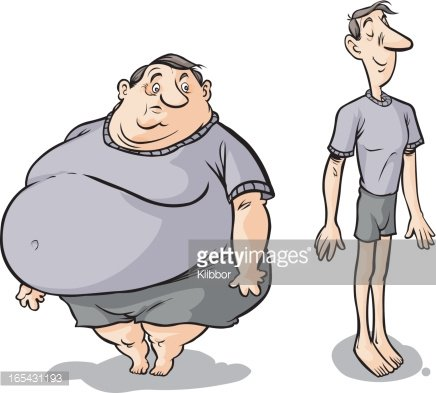 Slim clipart png royalty free stock Cartoon Fat Slim Male premium clipart - ClipartLogo.com png royalty free stock