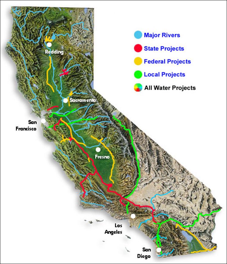 Slo california map clipart clip art download Clipart aqueducts of california map - ClipartFest clip art download