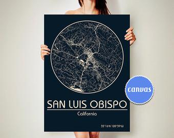 Slo california map clipart clip art freeuse stock San luis obispo | Etsy clip art freeuse stock